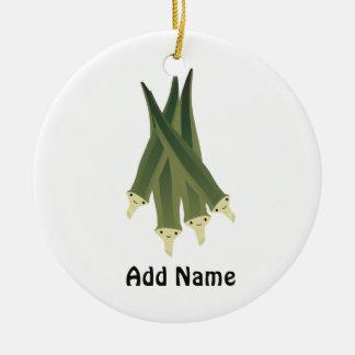 Cute Okra Ceramic Ornament
