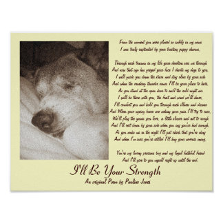 cute old akita dog add your own photo poem poster