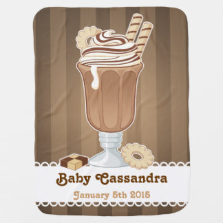 Cute old fashioned chocolate milkshake design buggy blankets