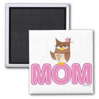 Cute Olivia VonHoot Cartoon for Mom Square Magnet