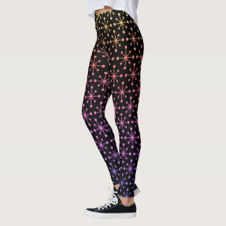 Cute Ombre Rainbow Snowflake Leggings