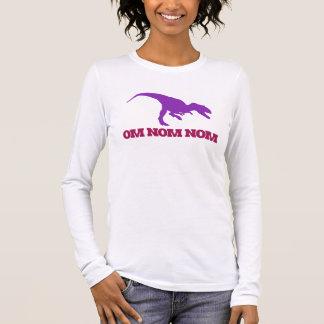 Cute Omnom Dinosaur Long Sleeve T-Shirt