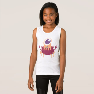 Cute on eyed crab monster singlet