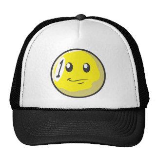 Cute One 1 Ball Billiard Cartoon Trucker Hat