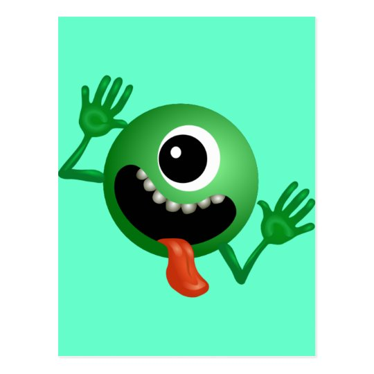 Cute One Eyed Monster Postcard