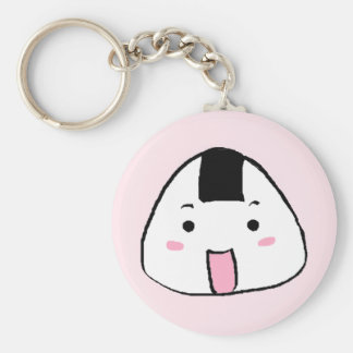 Cute Onigiri (Rice ball) Basic Round Button Key Ring