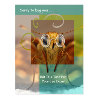 Cute Optometry Eye Exam Appointment Reminder Post Cards
