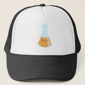 Cute orange alchemy kawaii flask trucker hat