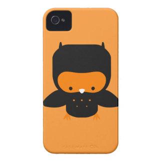 Cute Orange and Black Owl Case-Mate iPhone 4 Cases