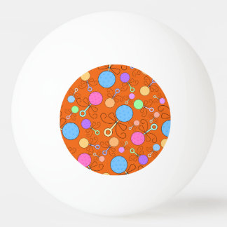 Cute orange baby rattle pattern ping pong ball