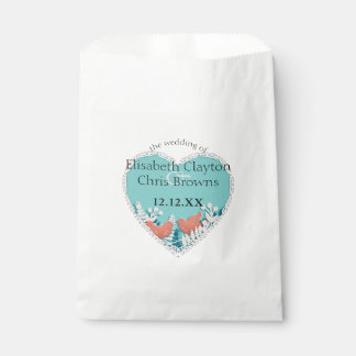 Cute orange birds origami cutout wedding favour bags