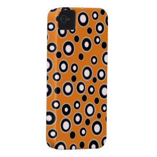 Cute Orange Black & White Dot iPhone 4 & 4S Case iPhone 4 Covers