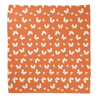 Cute orange Butterfly Pattern Head Kerchief