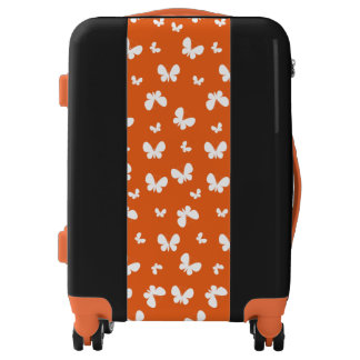 Cute orange Butterfly Pattern Luggage