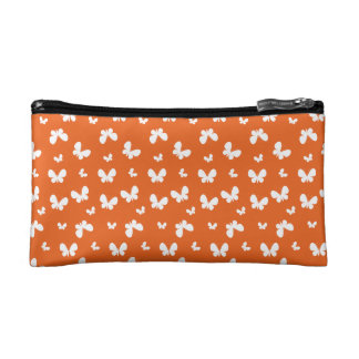 Cute orange Butterfly Pattern Makeup Bags