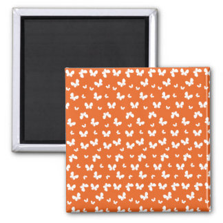 Cute orange Butterfly Pattern Square Magnet