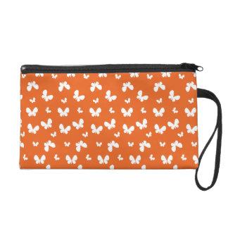 Cute orange Butterfly Pattern Wristlet Purse