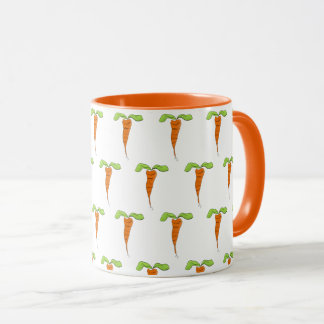 Cute Orange Carrot Foodie Watercolor Coffee Mug