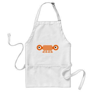 Cute Orange Cartoon Monster Apron