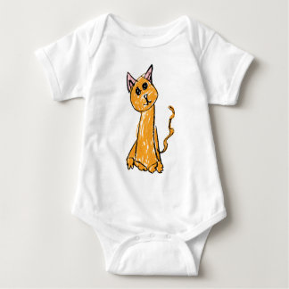 Cute Orange Cat Baby Bodysuit