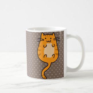 Cute Orange Cat Coffee Mug
