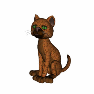 Cute Orange Cat Photo Sculpture Key Ring