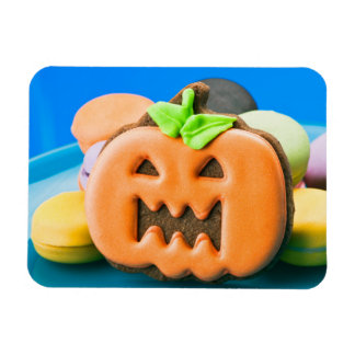 Cute orange Halloween pumpkin Rectangular Photo Magnet