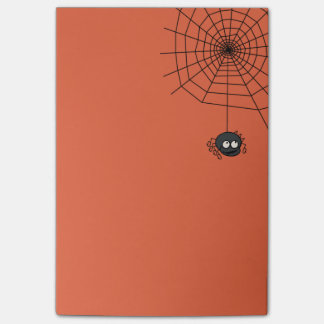 Cute Orange Halloween Spiderweb Post Its Post-it Notes