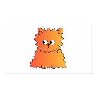 Cute Orange Long Hair Cat. Business Card Templates