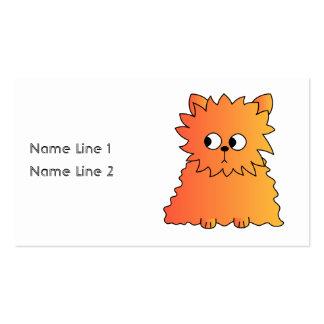 Cute Orange Long Hair Cat. Business Card Template