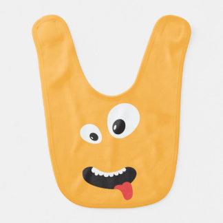 Cute Orange Monster Bib