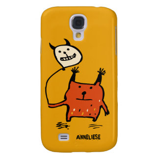 Cute Orange Monster Samsung Galaxy S4 Case