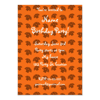 Cute orange mushroom pattern 13 cm x 18 cm invitation card