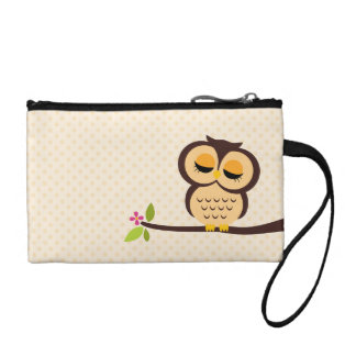 Cute Orange Owl Coin Purse