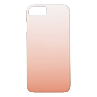 Cute Orange Peach Ombre Girly iPhone 7 Case