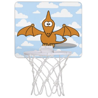 Cute Orange Pterodactyl Cartoon Mini Basketball Hoop