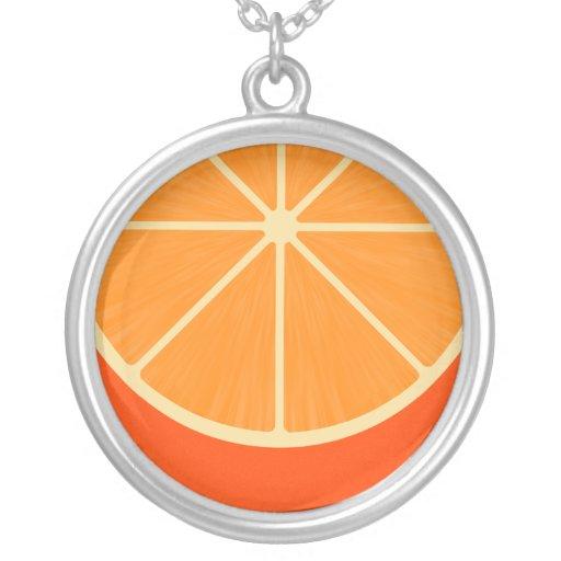 Cute Orange Slice Kawaii Necklace