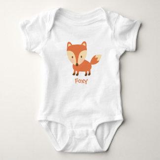 Cute Orange Woodland Fox For Babies Baby Bodysuit