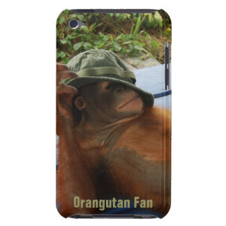 Cute Orangutan in Army Hat Barely There iPod Covers
