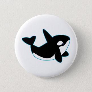 Cute Orca (Killer Whale) 6 Cm Round Badge