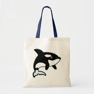 Cute Orca / Killer Whale Tote Bag
