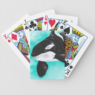 Cute Orca Whale Bicycle Playing Cards