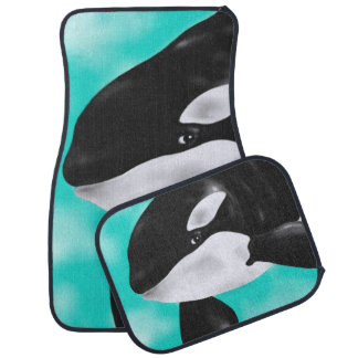 Cute Orca Whale Car Mat