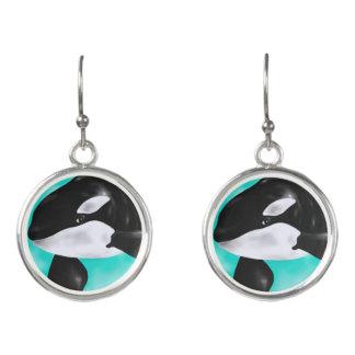Cute Orca Whale Earrings