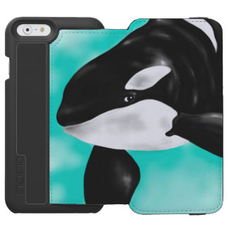 Cute Orca Whale Incipio Watson™ iPhone 6 Wallet Case