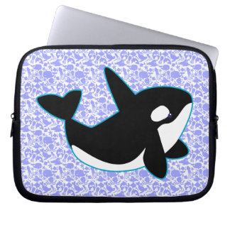 Cute Orca Whale Laptop Sleeve