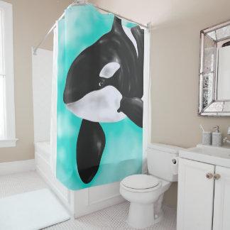 Cute Orca Whale Shower Curtain
