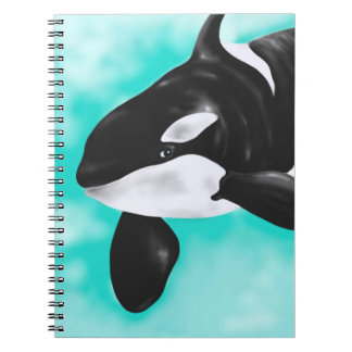 Cute Orca Whale Spiral Notebook