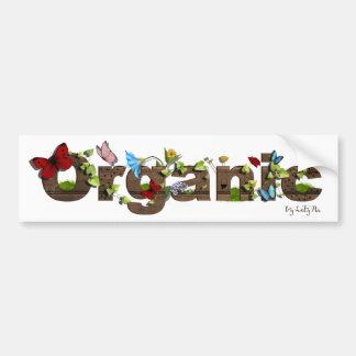 Cute Organic bumper sticker. Think Green! Bumper Sticker