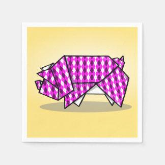 Cute Origami Pig Disposable Serviettes